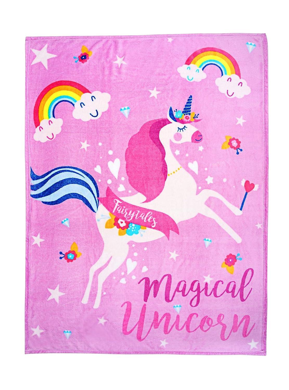 Goldstar ® Unicorn Throw Soft Warm And Cosy Children Cuddly Blanket 110 x 140cm NA