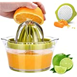 4 in 1Multi-Function Manual Juicer, Citrus Lemon Orange Hand Squeezer Egg Separator with 2 Anti-Slip Reamers, Strainer…