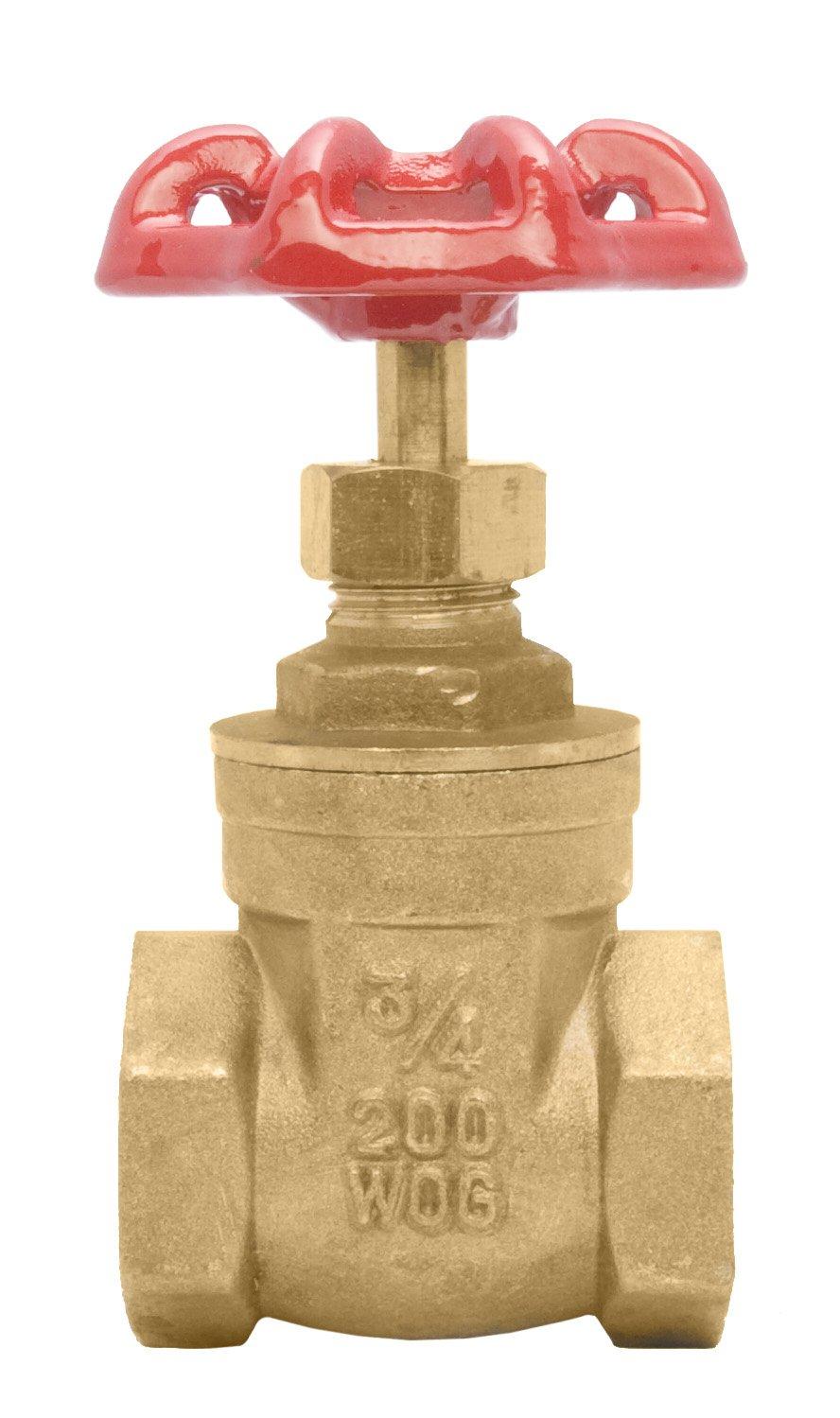 3/4'' Brass Gate Valve - 200WOG, FxF NPT