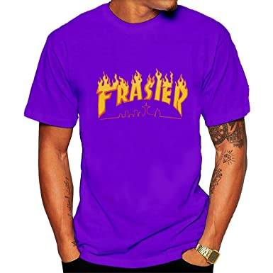 6a749d3cada0 Amazon.com  FashioYU-Tee Men s Thrasher Magazine Frasier Fire Logo Tee  Shirts Black  Clothing