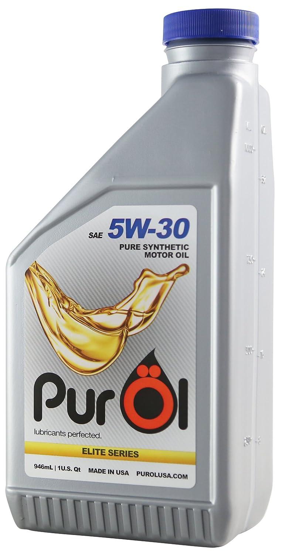 PurOl Elite合成モーターオイル5 W30 1リットルボトル B00F2WHIAG