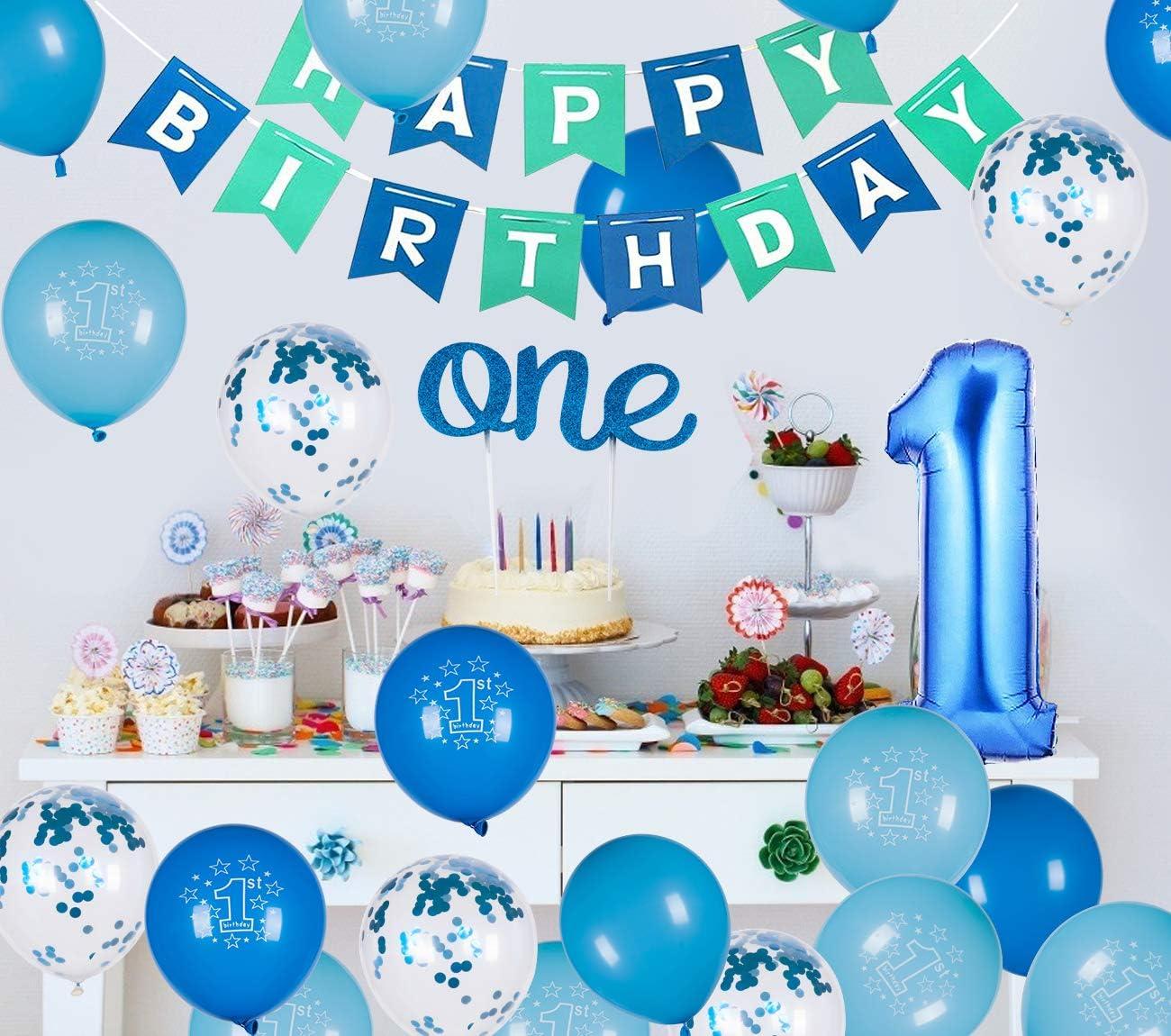 Mogoi Party 1st Birthday Boy Dekorationsset Hochstuhl Dekoration Nr 1 Kronenhut Happy Birthday Banner Geburtstagsparty Zubehor Amazon De Spielzeug