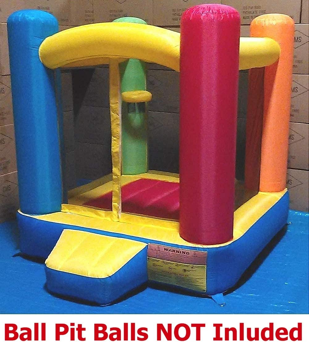 Perfectly Sized for Indoor or Outdoor Use 300 Jumbo 3 Balls Included - Best for Kids Age 1~6 Little Castle Bounce House w// Step