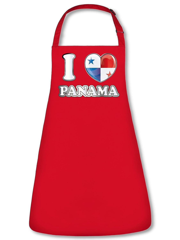 FAN SCHÜRZE I Love Panama 5949 Grillschürze (Rot)