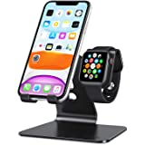 Apple Watch Stand, OMOTON 2 in 1 Universal Desktop Stand Holder for iPhone and Apple Watch Series 7/6/5/4/3/2/1 and Apple Wat