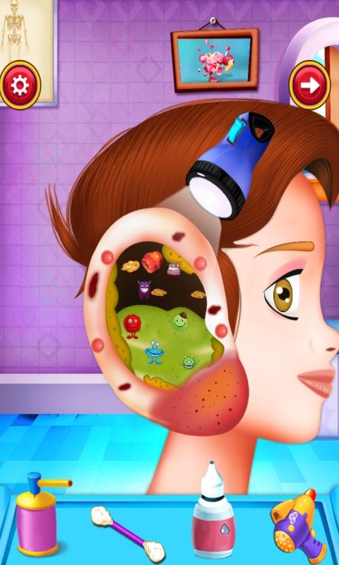 Médico de la oreja Juegos para niños : convertirse en el