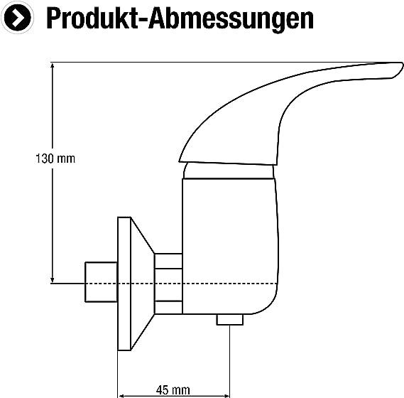 CON:P SA933 Anza mitigeur /à levier unique pour douche Multicolore chrom/é