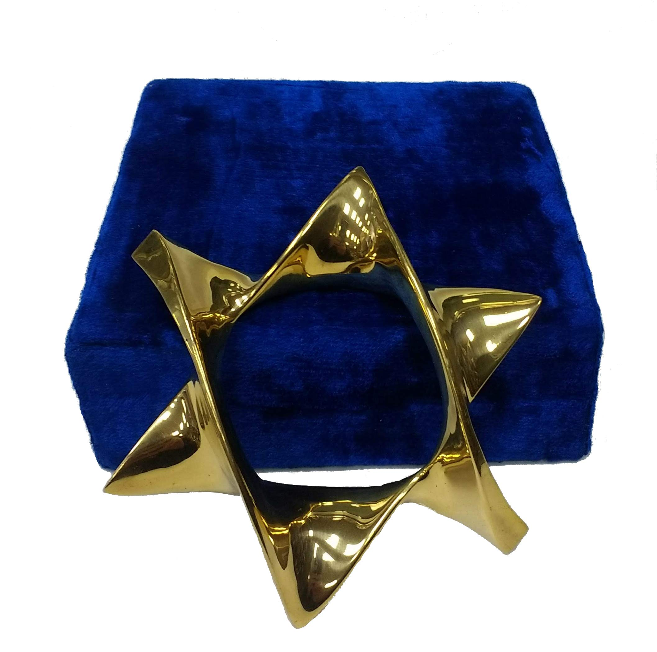 Jewish Star of David Paperweight - Solid Brass, 4'' by Quality Judaica