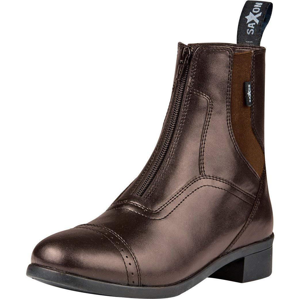 Saxon Ladies syntovia Zip Paddock Boot B072QZX4QV  ブラウン 7