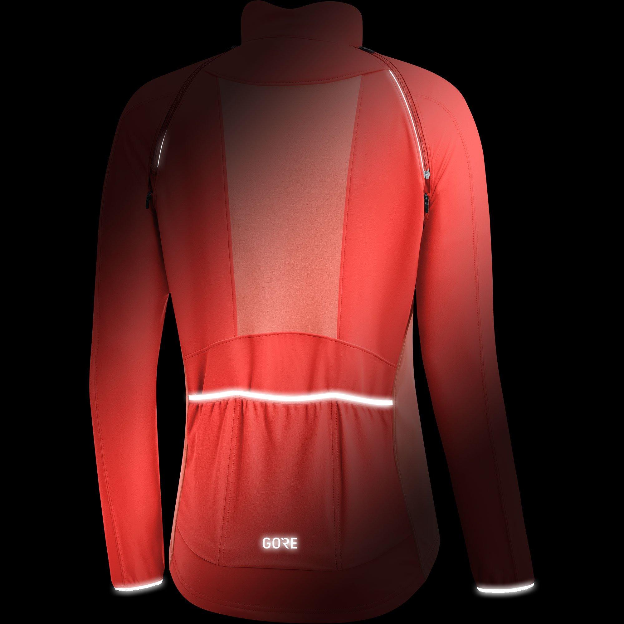 GORE Wear Women's Windproof Cycling Jacket, Removable Sleeves, GORE Wear C3 Women's GORE Wear WINDSTOPPER Phantom Zip-Off Jacket, Size: M, Color: Lumi Orange/Coral Glow, 100191 by GORE WEAR (Image #4)