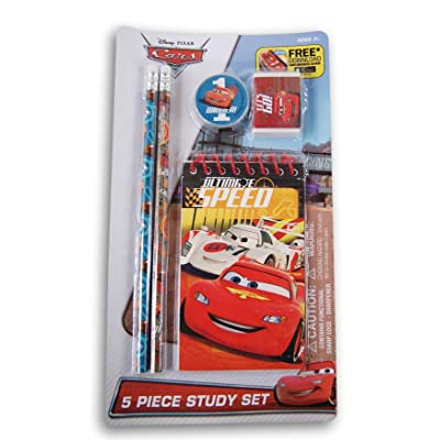 Innovative Designs Cars 5 Piece Study Set: Toys & Games