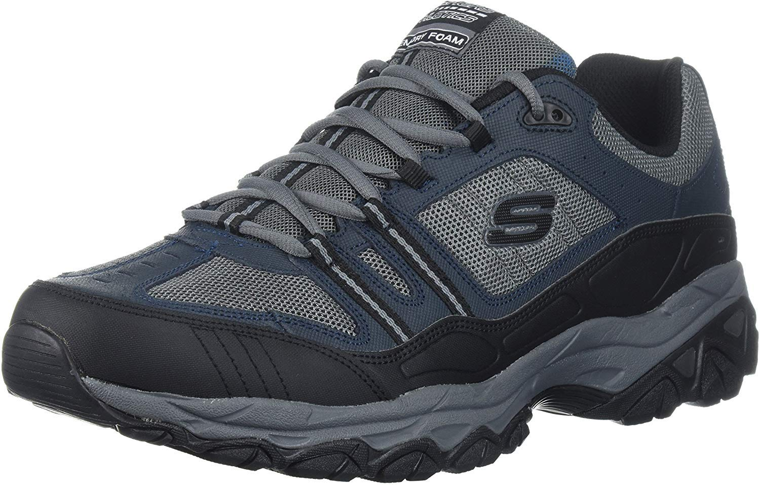 Skechers Sport Men's Afterburn Strike Memory Foam Lace-Up Sneaker,Navy/Gray,11.5 M US