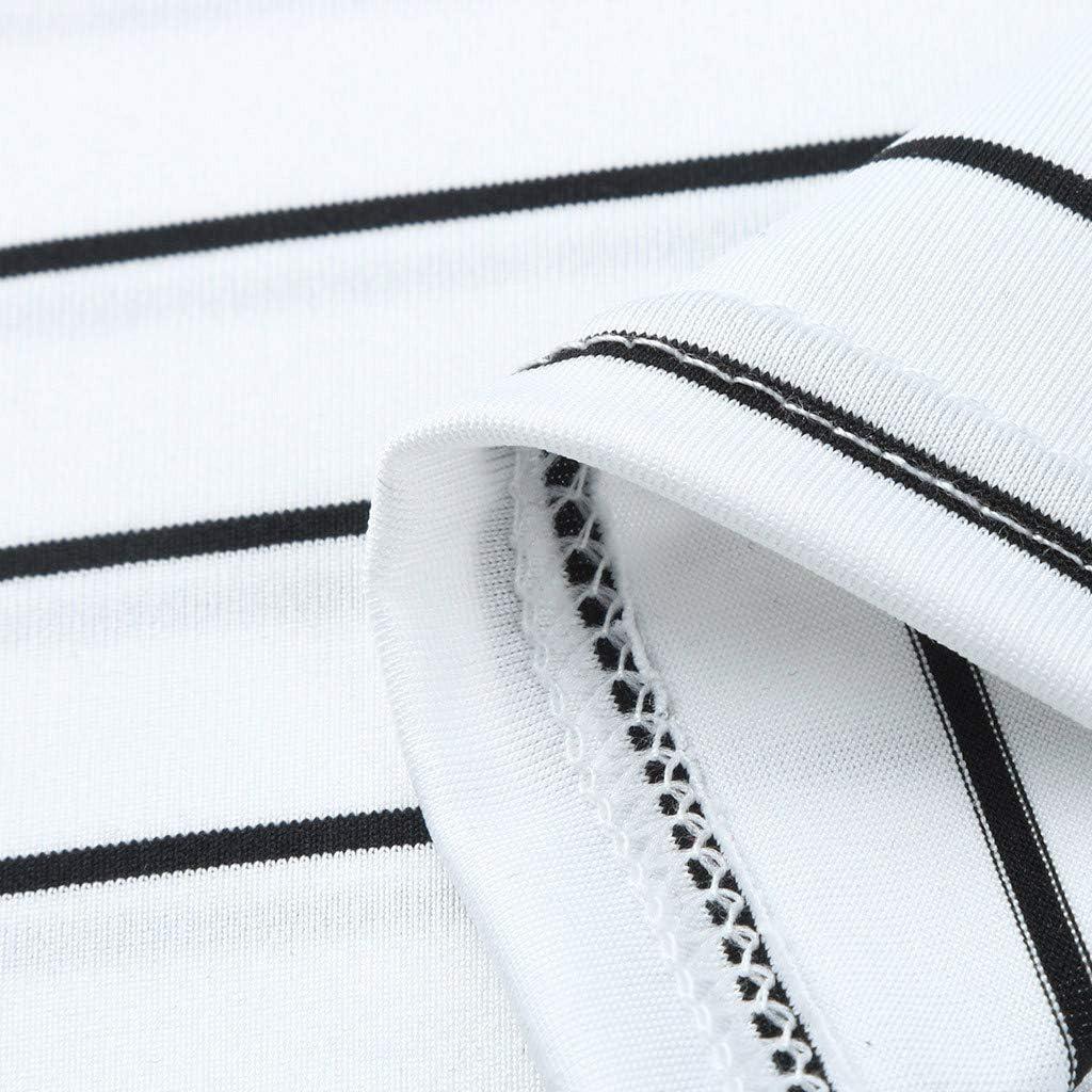 SUDADY Premaman Strisce Camicetta T-Shirt Estivi Gravidanza Magliette a Maniche Corte Eleganti Splicing Stripe Maternita Tunica Traspirante in Morbida Cotone Regali per la Moglie