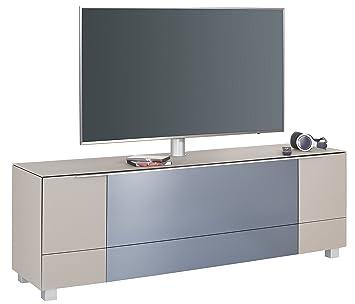lisel de soundboard 7773 von maja mobel in glas sand tv board lowboard 180x140x42cm