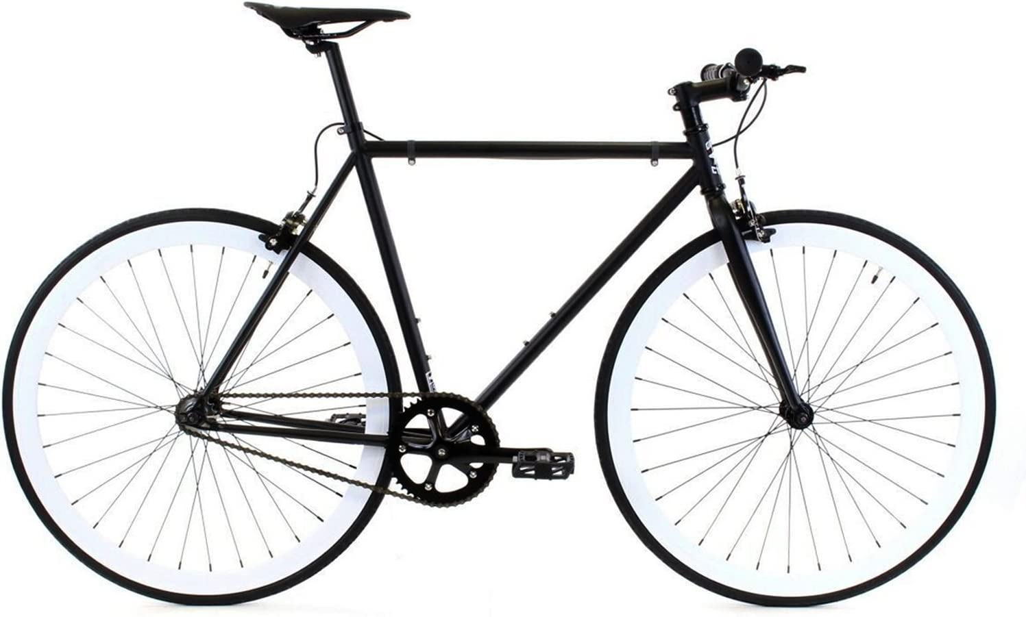 Golden Cycles Single Speed Fixed Gear Bike with Front /& Rear Brakes