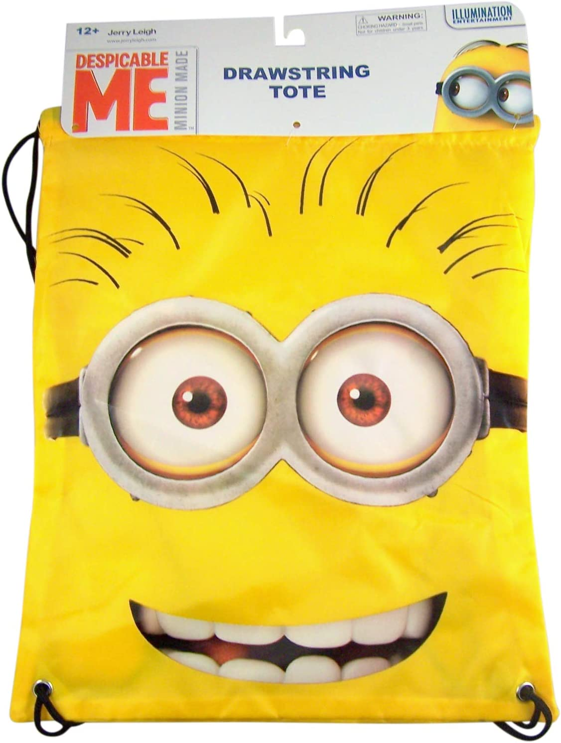 Hello Tom Minion Drawstring Backpack Tote Bag 15 1//2 Inch