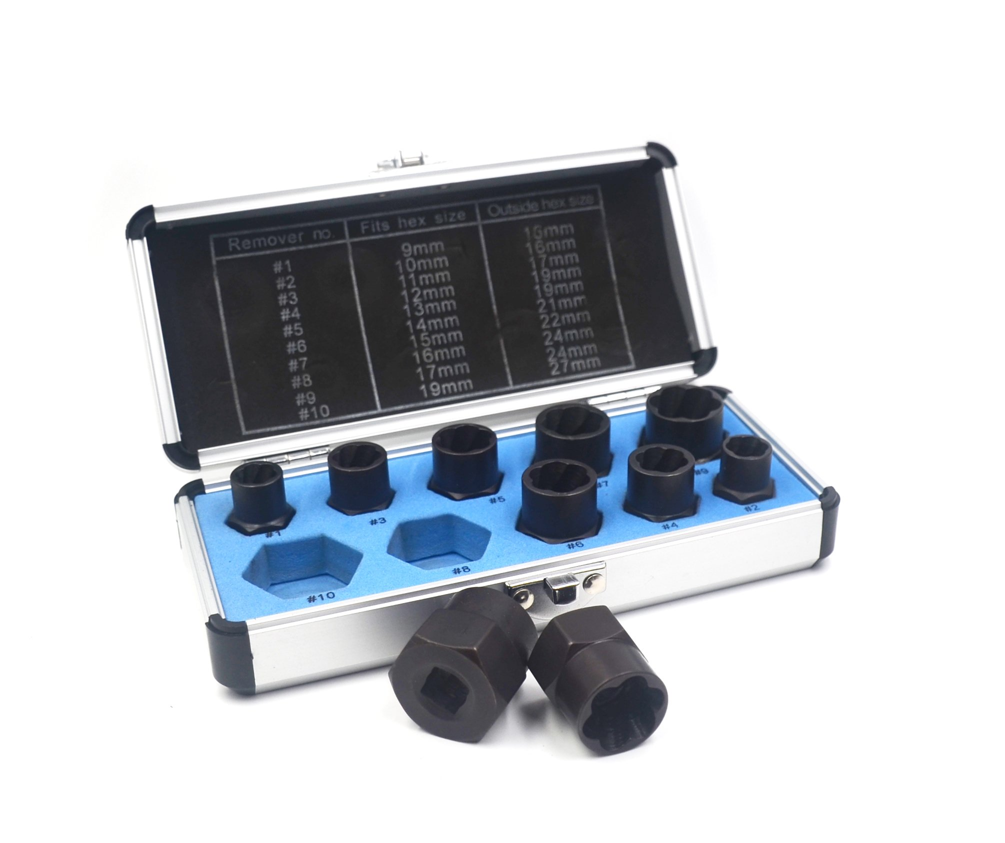 IRISFLY 11 Pcs Bolt and Nut Grip Extractor Expansion Set