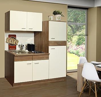 Singleküche Pantryküche Küche Kühlschrank Spüle Kochplatten