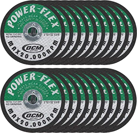CUT OFF WHEELS 3 x 3//8 For Cutting All Steel and Ferrous Metals. 50 Pack