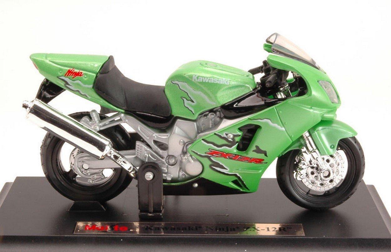 Maisto MI332G Kawasaki Ninja ZX-12R Green 1:18 MODELLINO Die ...