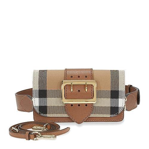 Burberry women s leather clutch with shoulder strap handbag bag purse  brown  Amazon.ca  Shoes   Handbags c1860b2b2fbd8