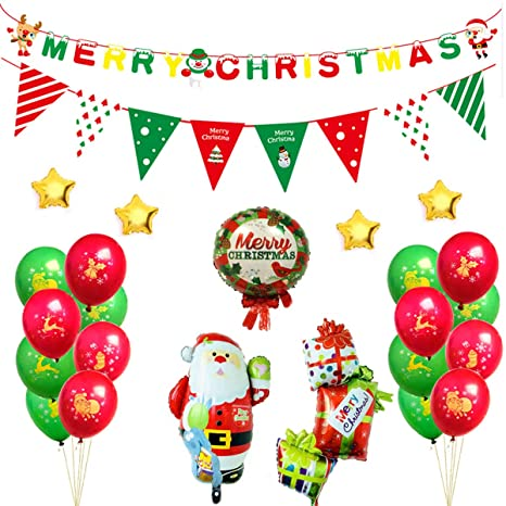 Joyeux Noel Et Nouvel An.Vohoney Noel Ballons Noel Bannieres Ballon Noel Ballon