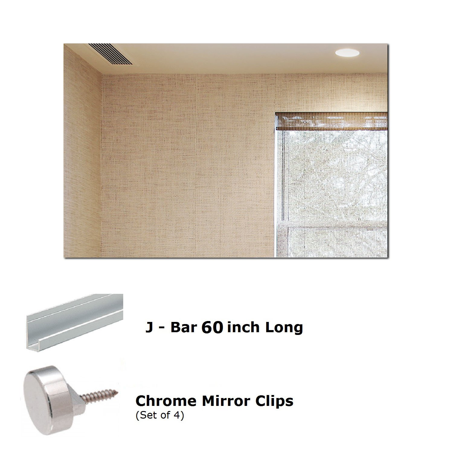 Fab Glass and Mirror MRec48x60BE6MM Rectangle Wall Mirror 48'' x 60'' Frameless Flat Polish Safety Backing