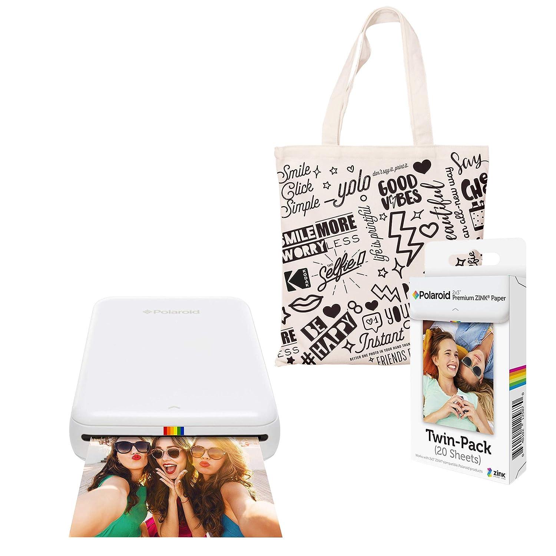 Polaroid Zip Impresora de Fotos Inalámbrica (Blanco) Kit de Inicio ...