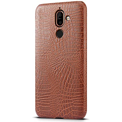 premium selection 742ba d1f15 Amazon.com: SLEO Nokia 7 Plus Case - Vintage Retro Premium PU ...