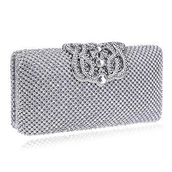 96195b740ed2e YANLONG Damen Kleine Tasche Shiny Fashion Perlen Pailletten Perle Handtasche  Weiblich - Retro Perlen Abendtasche
