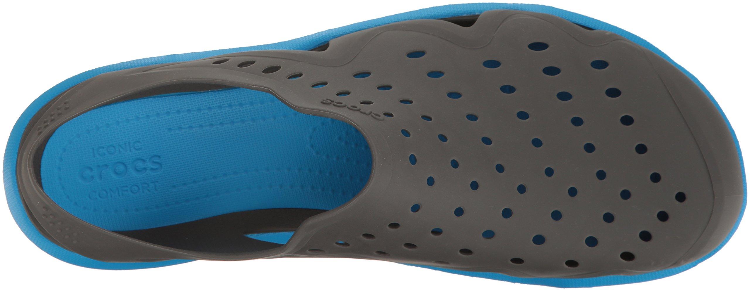 crocs Men's Swiftwater Wave M Flat,Graphite/Ocean,11 M US by Crocs (Image #9)