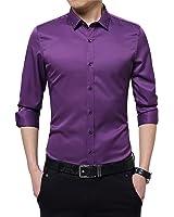 B dressy Slim Mens Tuxedo Shirts Slim Fit Leisure Business Dress Shirt Men Long Sleeve social Casual Shirt 4XL 5XL Cool