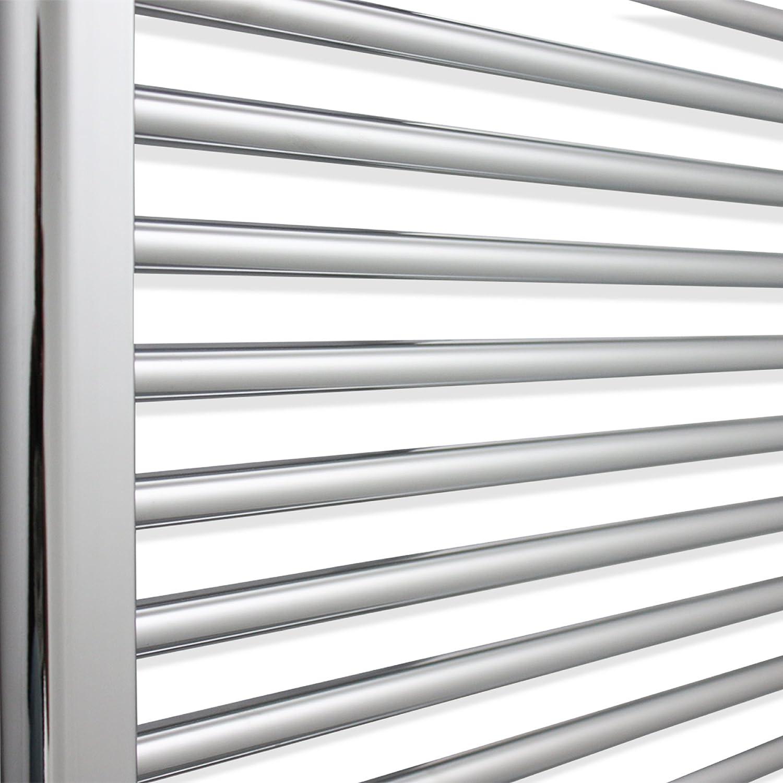companyblue Heated Chrome Bathroom Towel Rail Radiator 1100mm wide 800mm high