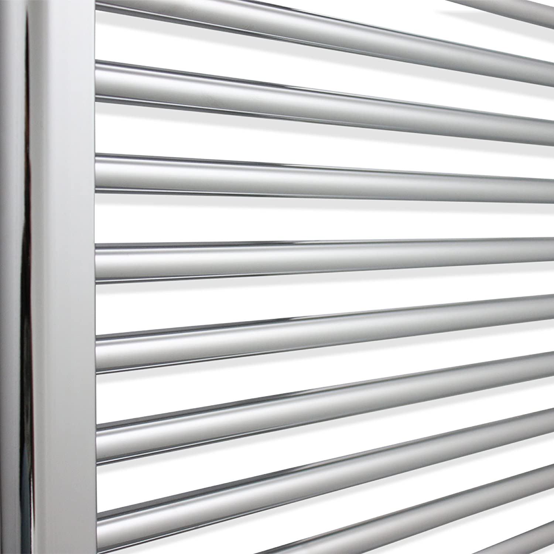 900 x 400 mm companyblue 900mm Wide Chrome Heated Towel Rail Radiator Flat//Straight Ladder for Stylish Bathroom