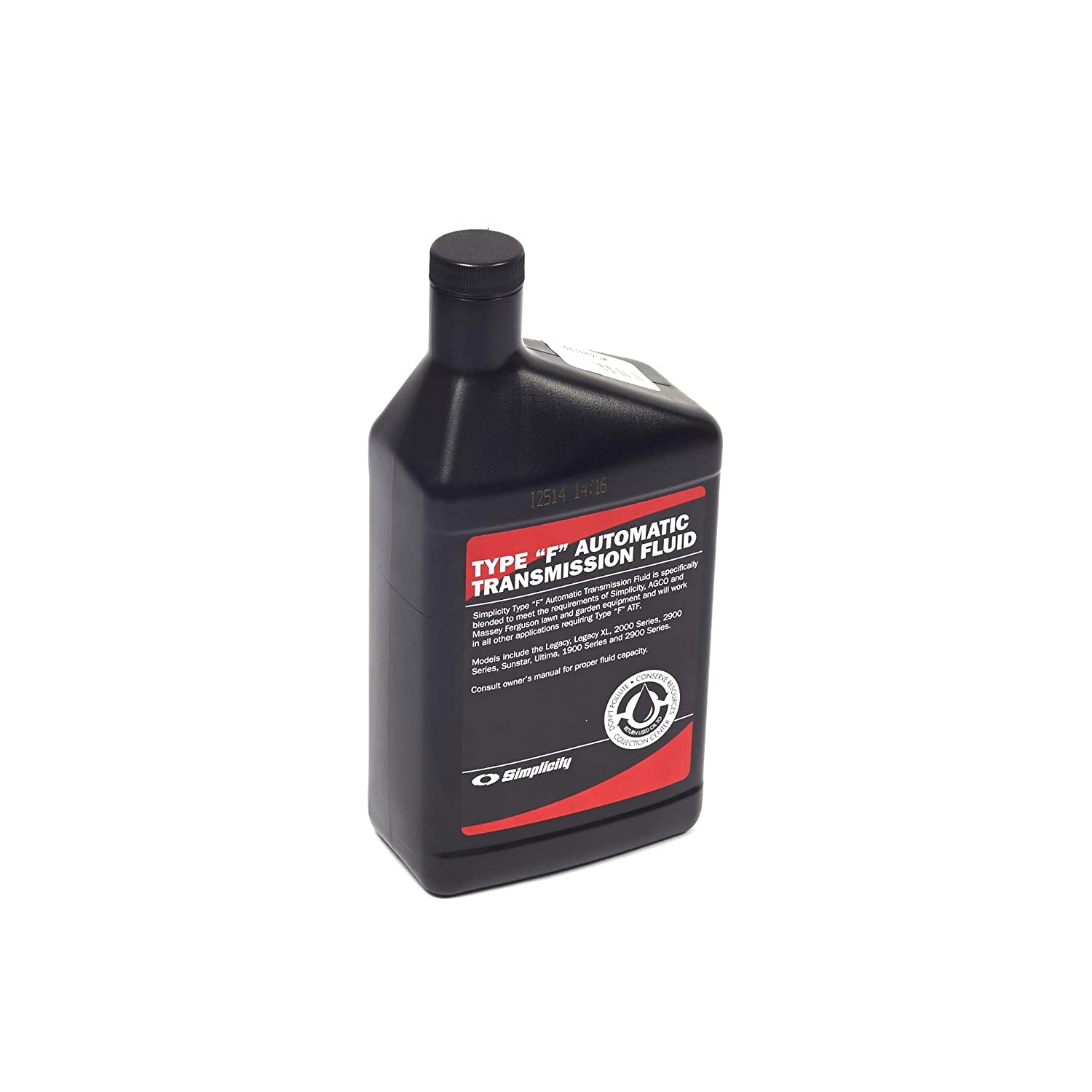 Amazon.com : Briggs and Stratton 1687062SM Transmission Fluid - 32oz. :  Garden & Outdoor