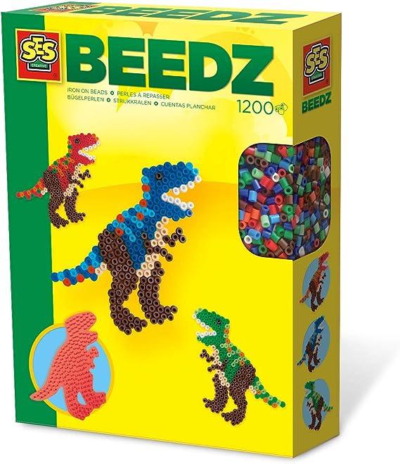 SES Creative- Cuentas para Planchar de T-Rex SES, Multicolor (06117)