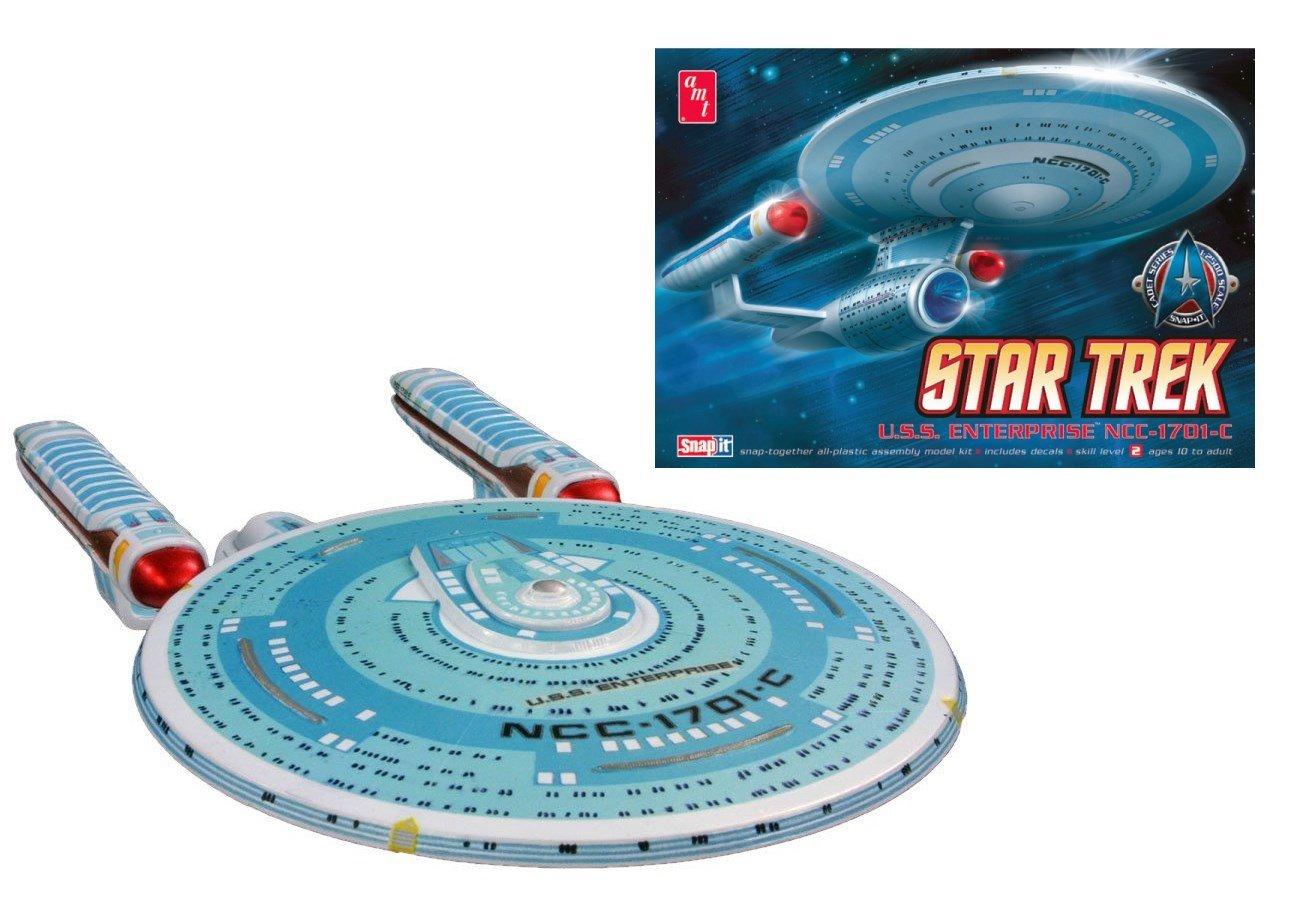 Amazon.com: AMT Star Trek USS Enterprise 1701-C Cadet Series 1/2500 Scale  Plastic Model Kit: Toys & Games