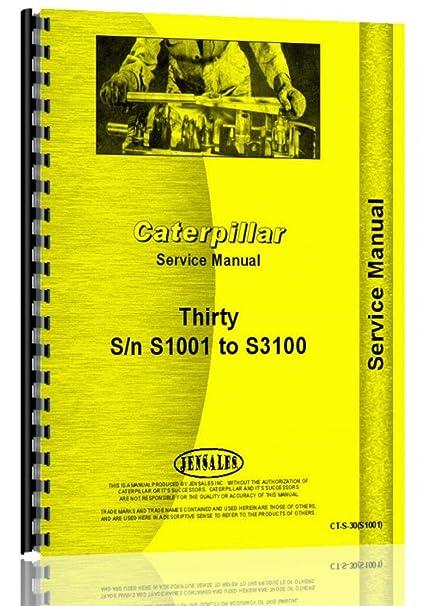 amazon com caterpillar 30 crawler service manual s n s1001 s3100 rh amazon com S3100 Engine S3100 Engine