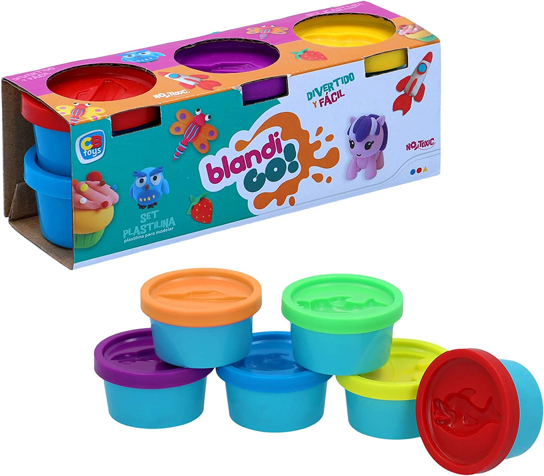 CB- Pack 6 Botes plastilina 30 gr, Multicolor (24843): Amazon.es: Juguetes y juegos