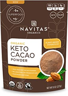 product image for Navitas Organics Keto Cacao Powder, 8oz. Bag, 15 Servings — 100% Cacao, Organic, Non-GMO, Fair Trade, High Fat, Vegan