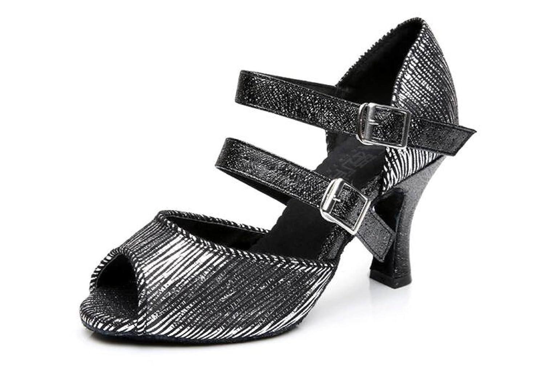 Noirheeled7.5cm Jchaussures Chaussures De Danse Latine Pour Femme Salsa   Tango   Thé   Samba   Moderne   Jazz Chaussures Sandales Talons Hauts,rougeheeled7.5cm-UK3.5 EU34 Our35 UK3 EU33 Our34