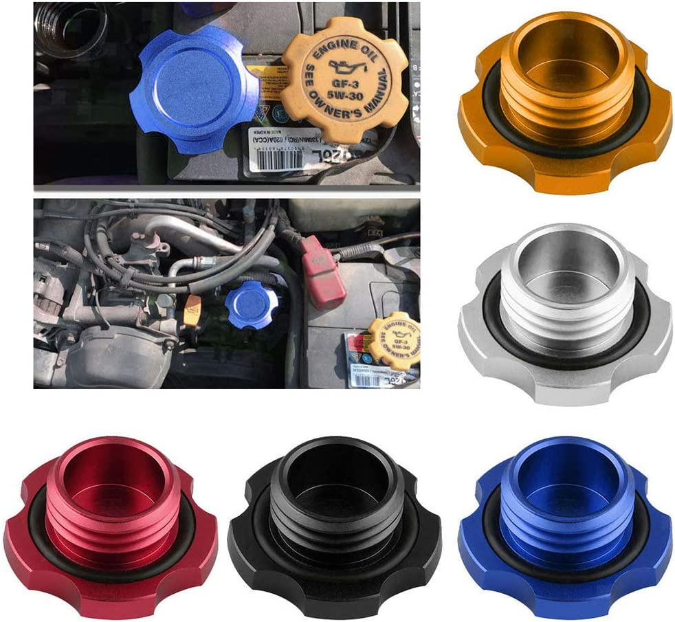 Grebest Fuel Tank Cover Cap Engines /& Components Protective Cover Metal Engine Oil Filter Cap Fuel Tank Cover for Subaru Impreza Legacy Exiga