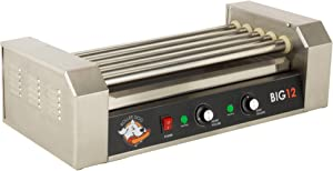 Roller Dog RDB12SS Commercial 12 Hot Dog Roller Grill Cooker Machine