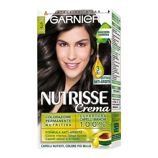 3 opinioni per Garnier Nutrisse Colorazione Permanente Nutritiva, 3 Castano Scuro