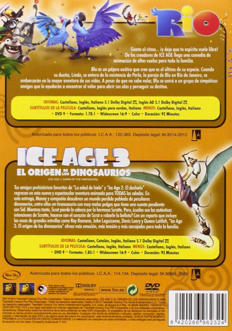 Rio + Ice Age 3 [DVD]: Amazon.es: Personajes animados, Carlos Saldahna, Bruce Anderson, John C. Donkin, Lori Forte: Cine y Series TV