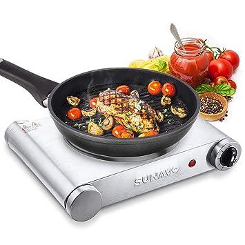 Fornello Elettrico 1 Piastra Ghisa Potenza 500W Portatile Da Viaggio e Campeggio