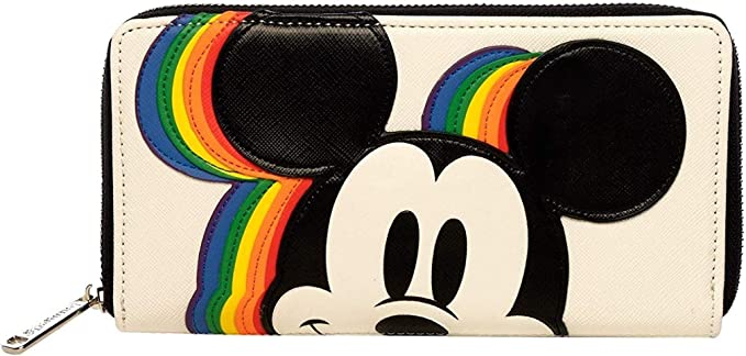 Loungefly Disney Mickey Mouse Allover Print Cardholder /& ID Wallet New