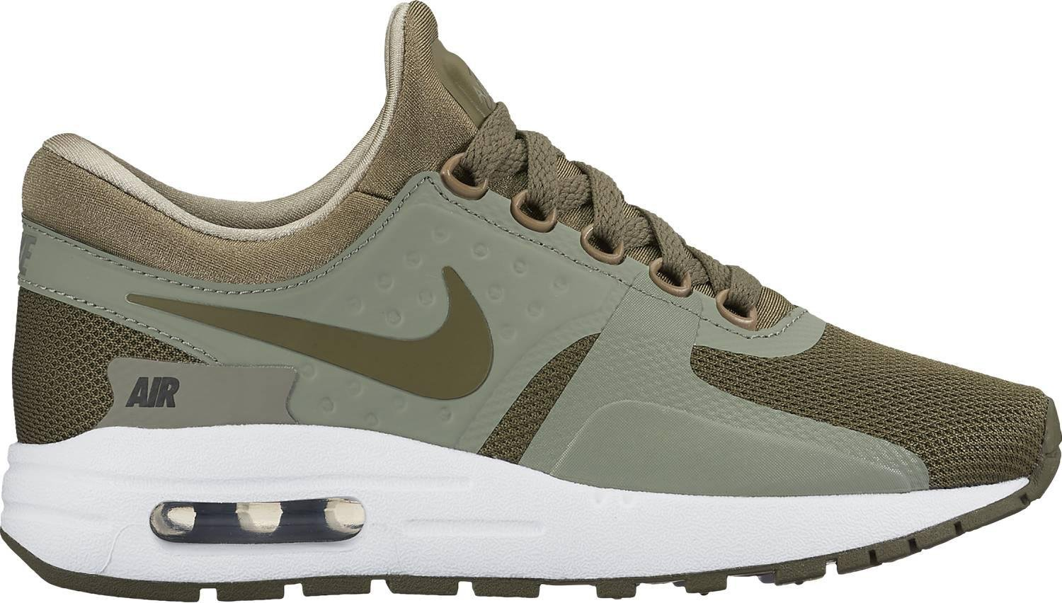 Nike  Air Max Zero Essential GS Running Shoe B0059DAYMC US 6.5Y|Olive Green