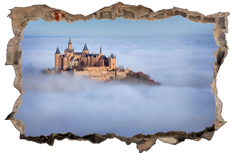 Burg Mittelalter Natur Wandtattoo Wandsticker Wandaufkleber D0753 Größe 120 cm x 180 cm