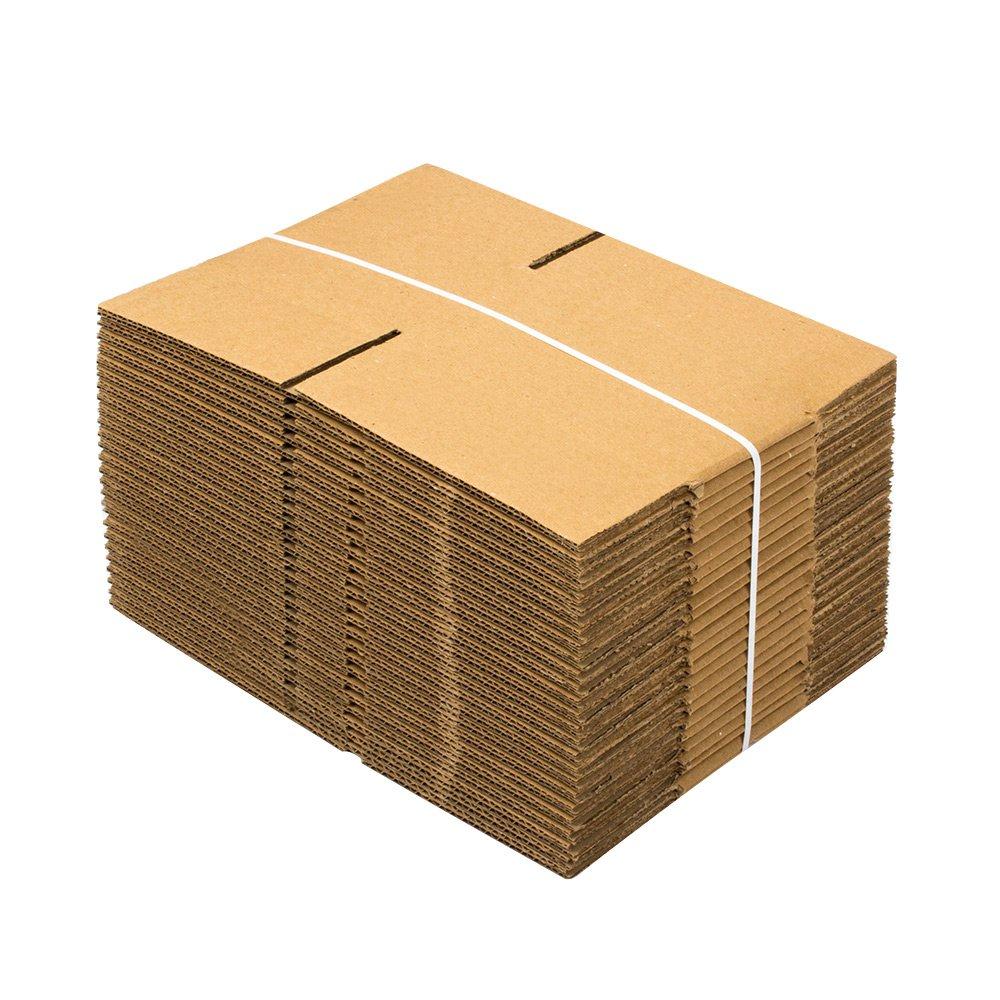 8 Length x 6 Width x 4 Height Pack of 100 Pratt PRA0016 100PK 100/% Recycled Corrugated Cardboard Box